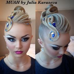 ✨ Dana Makarova #hairdresser #hair #updo #hairstylist #hairstyle #blondehair #dancesport #ballroom  - juliettakaraseva.new