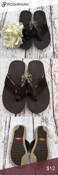 💕SALE💕Rainbow Brown Flip Flops Fabulous 💕Rainbow Brown Flip Flops Rainbow Shoes Sandals