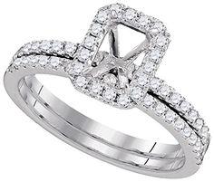3/8 Total Carat Weight DIAMOND SEMI-MOUNT BRIDAL SET.