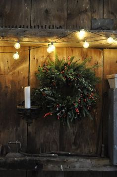 How to make a real holiday wreath.  Using a few branches cut off the bottom of your Christmas tree.