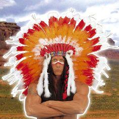 Penacho de Indio Gran Jefe #boasdisfraz #accesoriosdisfraz #accesoriosphotocall