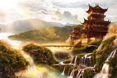 ArtStation - Chinese architecture, mavis kou