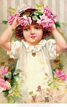 Vintage. День Святого Валентина. Красивые открытки.: ♥ Creative NN. Блог Альбины Рассеиной. ♥