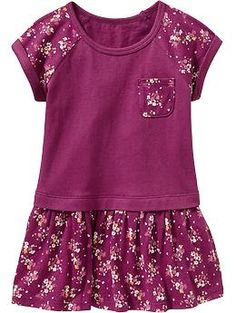 Floral-Print Jersey Dresses for Baby   Old Navy