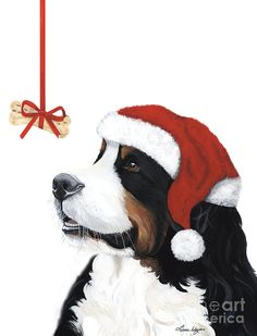 Smile its Christmas Painting pinned By http://Barkingstud.com