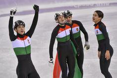 Történelmi pillanat! Olimpiai bajnok a magyar férfi rövidpályás gyorskorcsolya-váltó | Lokál