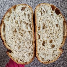 Here's the crumb from my loaf using the Abruzzi rye from (thanks ❤️). I even achieved a bit of a double ear 😀 Frappe, Kefir, Rye, Bread Baking, Blog, Basket, Baking, Blogging, Rye Grain