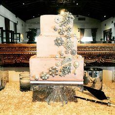 Sparkling Wedding Cake by a Bakeshop!  Website: http://abakeshop.com  Address: 6007 N 16th St, Phoenix, AZ 85016 Email: info@abakeshop.com