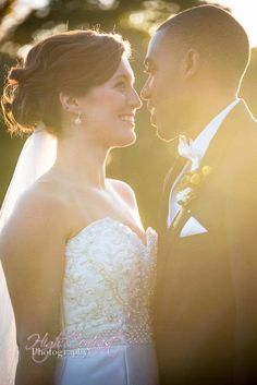 #wedding #couple #interracial #sunflare #sunset #close #intimate #tender #photography by High Contrast Photography, Rockfield Manor, Bel Air, MD