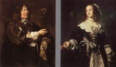 These are my favorite portraits in the history of art. So romantic! Frans Hals, Portrait of Stephanus Geeraerdts and Portrait of Isabella Coymans, ca. 1650-1652.