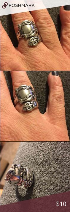 Spoon ring! New  Adjustable   Squeeze to tighten ~ pull to make larger :) Jewelry Rings
