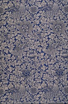 William Morris, 'Bird and anemone' produced by Morris & Co, 1882