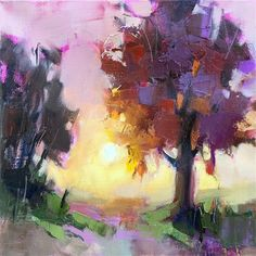 "Daily Paintworks - ""The Pink Hour"" - Original Fine Art for Sale - © Trisha Adams"