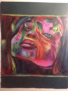 Abstract/modern art of a woman's face made by tarushi