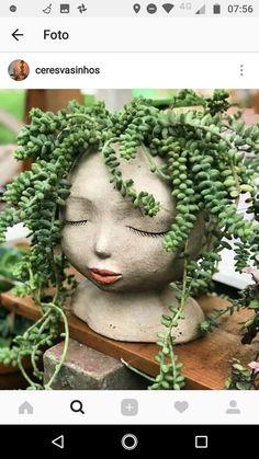 Garden Sculpture, Outdoor Decor, Home Decor, Faces, Homemade Home Decor, Interior Design, Decoration Home, Home Interiors, Home Decoration