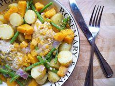 Abbe's Cooking Antics: * Chicken and Butternut Casserole