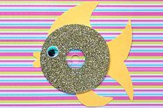 25 Creative Out-Of-Waste Material Crafts For Kids Waste Material Craft Ideas - Glittery CD Fis Cd Fish Crafts, Old Cd Crafts, Sea Crafts, Diy Arts And Crafts, Crafts For Kids, Creative Activities, Craft Activities, Creative Crafts, Creative Kids