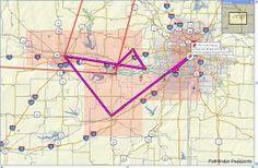 Constructed Garmin MapSource Route between VFW Waypoints (Altutude Order)