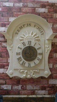 Decorative wall clock for the garden by BradburystudiosGB on Etsy https://www.etsy.com/uk/listing/518653353/decorative-wall-clock-for-the-garden