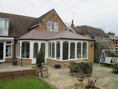 Transform your conservatory with a Tiled Roof Replacement from Abbey & Burton Glass. Warm Roof, Roofing Systems, Conservatory, Cabin, Mansions, House Styles, Gallery, Home Decor, Decoration Home