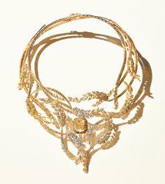 Le collier Les Blés de Chanel Joaillerie en diamants jaunes