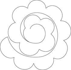 Resultado de imagen de plantilla de corte de flores de fieltro en espiral