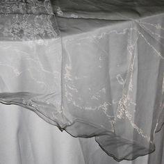 Organza Table Cover Overlay Ruffled Edge, 80-inch