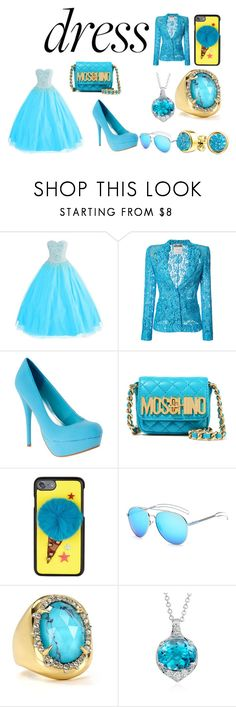 """bluealishis"" by beyonce-twins ❤ liked on Polyvore featuring Moschino, Dolce&Gabbana, Alexis Bittar, Blue Nile and Bling Jewelry"