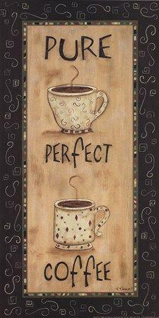 Pure Perfect Coffee Art Print by Kim Klassen at Urban Loft Art