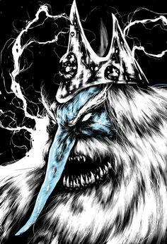 Adventure Time - Ice King Art Print by Suarez Art Ice King, King Art, Adventure Time Art, Geek Art, A Cartoon, Art Prints, Anime, Painting, Guilty Pleasure