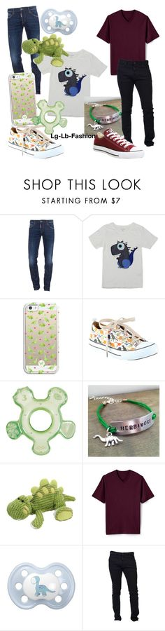 """Dd/lb. dinosaur"" by lg-lb-fashion ❤ liked on Polyvore featuring Dsquared2, Casetify, Hot Topic, Herbivore, Lands' End, Converse, men's fashion and menswear"