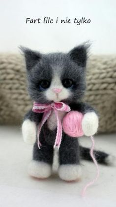 Filcowy kotek :)  polandhandmade