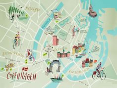 Nik Neves - Copenhagen map - Lonely Planet Mag (UK)