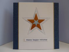 Male star birthday card using a dry embossing technique with dies - a commission for Die-Cutting Essentials magazine