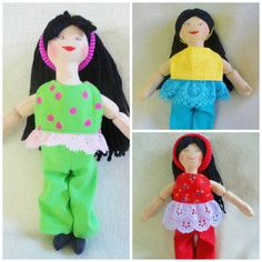 Asian Dress Up Doll  Toy Handmade Doll by JoellesDolls on Etsy