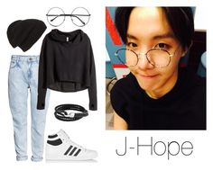 A fashion look from January 2016 featuring H&M hoodies, H&M jeans and adidas Originals sneakers. Browse and shop related looks. Cute Casual Outfits, Simple Outfits, Pretty Outfits, Kpop Fashion Outfits, Korean Outfits, Bts Clothing, Bts Inspired Outfits, Mode Kpop, Teenage Girl Outfits
