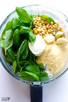 Source: GimmeSomeOven.com 4. Pesto If you thought pesto was a tricky dish, you'd be wrong. At least it's not when you have a good processor! Fresh ingredients like cheese, garlic, pinenuts and basil are pureed before your very eyes and then added to pasta and sandwiches to add both a beautiful color but an evenContinue Reading...