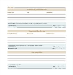 Image result for counseling treatment plan template pdf