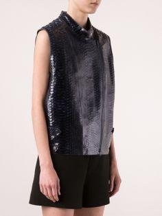 Brunello Cucinelli Embossed Python Vest - Marissa Collections - Farfetch.com