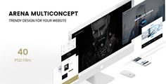 Arena - Multi-Concept PSD by MaestroThemes Arena clean and modern multi-purpose PSD template for all kind of business. Perfectly suits for corporate agency, business compani