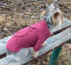 Dog clothinggirl dog clothespuppy sweaterknit от LyudmilaHandmade