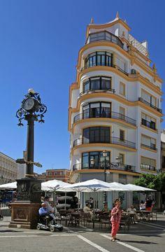 Jerez de la Frontera, Cadiz, Andalusia_ Spain.Antiguo edificio de la Esperanza