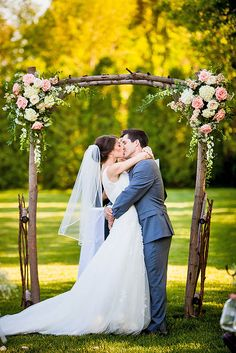 Floral Ceremony Arch Decoration Ideas ❤ See more…