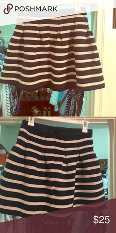 Pleated skirt Super cute pleated, blue and white striped skirt. GAP Skirts Midi