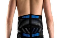 29633c1d42c80 NEOPRENE DELUXE BELT DOUBLE PULL Lumbar Lower Back Support Brace - Size  S-6XL
