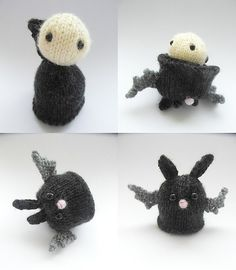"My son, the ""scary"" enthusiast would love this!  Ravelry: From Vlad to Bat (knitted version) pattern by Justyna Kacprzak"