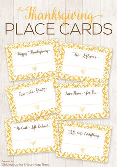 Thanksgiving place cards - I Heart Nap Time