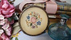 Vintage 1930 s Petit Point Ormolu Pin Dish Vanity Dish Dressing Table Items | eBay
