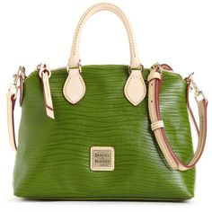 Dooney & Bourke Handbags, Crossbody Satchel found on Polyvore...can be purchased from Macys.com ...what a wonderful color! :)