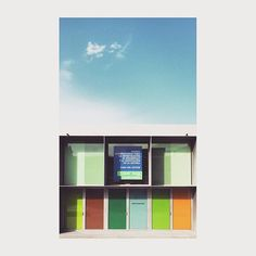 Casa del Lector #matadero #madrid #spain #architecture #arquitectura #color #window #sky #cielo